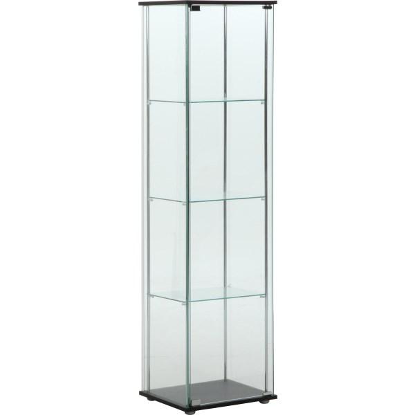 【送料無料】アウトレット 訳あり ショーケース コレクションケース ガラス コレクションボード 背面ミラー付き 飾り棚 96047 ガラスコレクションケース 4段