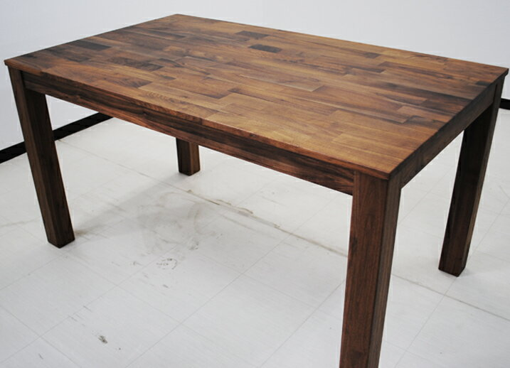 【送料無料】ダイニングテーブル ウォールナット 幅165×奥行80×高さ72cm