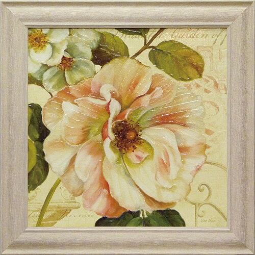 額縁付き 絵画 アートフレーム リサ オーディット「レ ジャルダン2」 LA-10013-新品