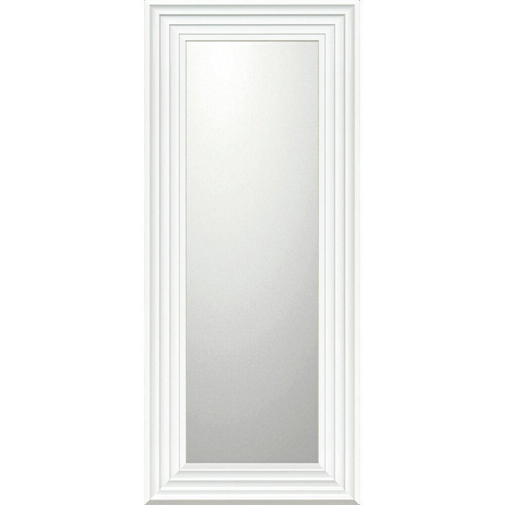 インテリア 鏡 壁掛け デコラティブ 大型ミラー シャープ「ロング(ホワイト)」 BM-16032 -新品