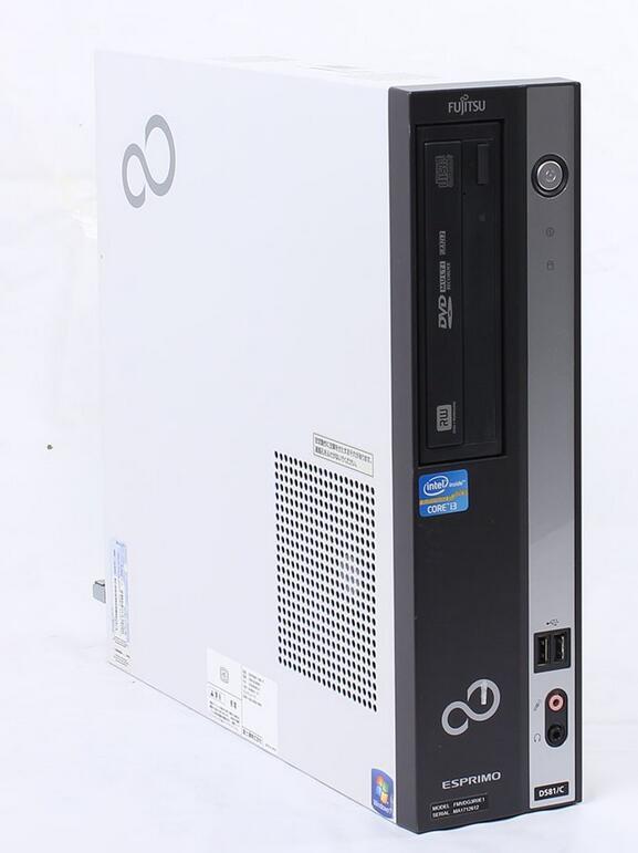 【新品1GBグラボ搭載 HDMI端子有】Windows7 Pro 64BIT/富士通 ESPRIMO D581/C Core i3 2100-3.10GHz/新品メモリ8GB/1TB/DVD/Office 2013有り【中古パソコン】【即日発送】