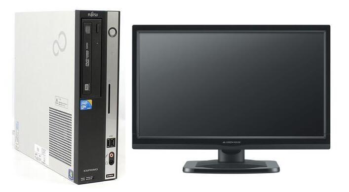 Windows7 Pro 64BIT/富士通 ESPRIMO D750/A Core i5 3.20GHz/4GB/500GB/DVD/20インチ液晶付/新品無線LAN有/Office 2016【中古パソコン】【即日発送】