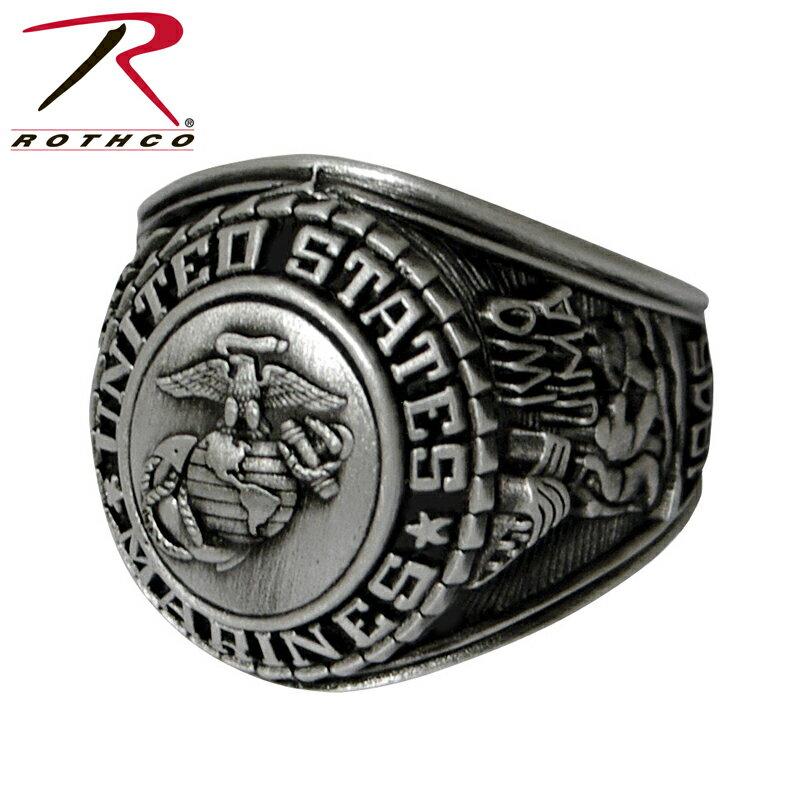 今クーポンで10%OFF!◆ROTHCO ロスコ Deluxe Silver ミリタリーリング Marines 【843】 ROTHCO ロスコ メンズ ミリタリー アウトドア WIP-1