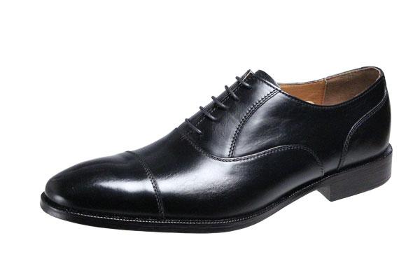 メンズシューズストレートチップ内羽根ベルガモ紳士靴革底マッケイ製法ビジネスシューズ2871ブラック