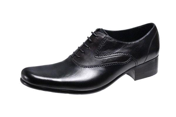 キャサリンハムネットメンズシューズKATHARINE HAMNETTプレーン内羽根紐靴4.0cmヒールの足長タイプビジネスシューズ31442ブラック