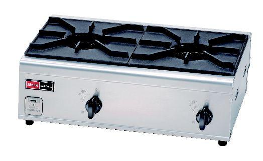 RSB-206N 2口内炎バーナー (ガス種:都市ガス) 13A【代引き不可】【ガステーブル】【ガスコンロ】【卓上コンロ】【業務用】【業務用厨房機器厨房用品専門店】