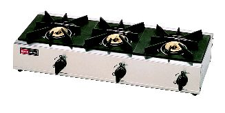 3口ガステーブル RSB-306SV (立消安全装置 付) (ガス種:プロパン) LP【代引き不可】【ガステーブル】【ガスコンロ】【卓上コンロ】【業務用】【業務用厨房機器厨房用品専門店】