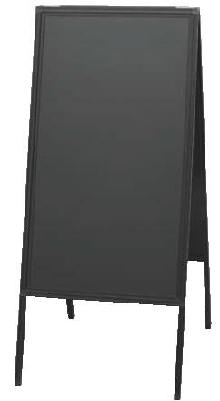 蛍光マーカー用アルミ枠スタンド黒板 ABD85-1【案内看板】【案内プレート】【販売板】【業務用厨房機器厨房用品専門店】