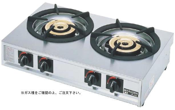 ガステーブルコンロ 親子 二口コンロ M-222C 13A (ガス種:都市ガス)【代引き不可】【焜炉】【熱炉】【業務用厨房機器厨房用品専門店】