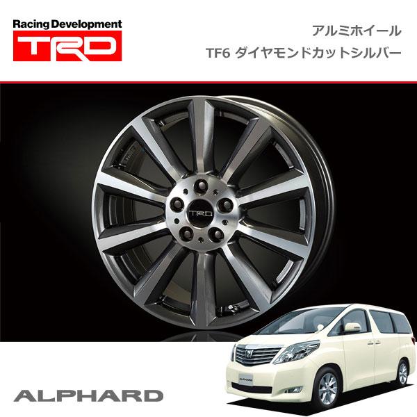 [TRD] アルミホイール TF6 ダイヤモンドカットシル�ー 19イン� 1本 アルファード ANH20W GGH20W 08/05�15/01 2WD車 除��イブリッド�サイドリフトアップシート付車