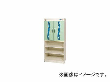 コトヒラ工業/KOTOHIRA 光触媒方式スリッパ殺菌ロッカー10足+下足棚 KES010G