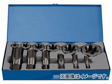 トラスコ中山 管用タップ、六角サラエナットダイスPFねじセット THDT-PFSET(7681691) 入数:1セット(12個)