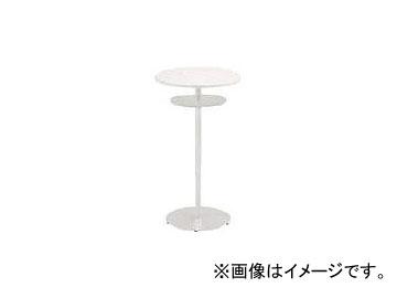 イトーキ ハイテーブル(円型)棚付 600×1000 TRA-060HCT-W9W9(7730675)