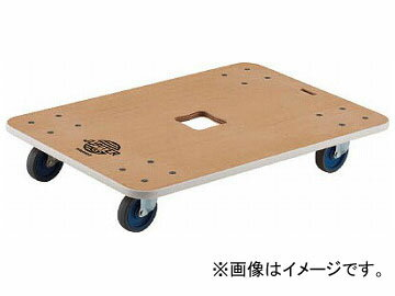 トラスコ中山 木製平台車 ジュピター 800×550 φ75 200kg JUP-800-200(8194966)