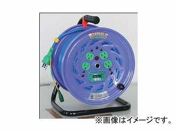 日動工業/NICHIDO カラードラム 100V 30m ポッキンプラグ・漏電保護専用ブレーカ付 ブルー NFC-EB34-B JAN:4937305041185