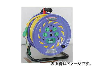 日動工業/NICHIDO カラードラム 100V 30m ポッキンプラグ・漏電保護専用ブレーカ付 イエロー NFC-EB34-Y JAN:4937305041215