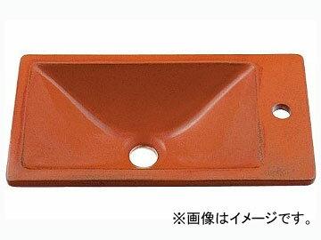 カクダイ 角型手洗器 鉄赤 品番:493-010-R JAN:4972353030644