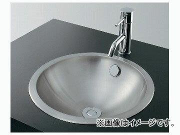 カクダイ ステンレス丸型洗面器 ヘアライン 品番:493-040 JAN:4972353493050