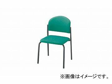 ナイキ/NAIKI 会議用�ェアー 4本脚/塗装タイプ ライトグリーン E163FB-LGR 498×530×780mm