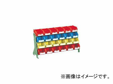 トラスコ中山/TRUSCO 片面卓上型コンテナラック H405 T2×24 UJ604(5079217) JAN:4989999669329