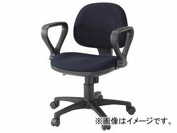 トラスコ中山/TRUSCO オフィスチェア 布張り 肘付 ブラック FST3A BK(3654877) JAN:4989999032147