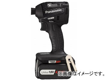パナソニック 充電インパクトドライバ18V 4.2Ah ブラック EZ75A7LS2G-B(7603681)