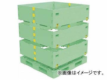 トラスコ中山 マルチステージコンテナ 3段 1100×1100 緑 TMSC-S1111-GN(7698194)