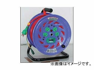 日動工業/NICHIDO カラードラム 100V 30m ポッキンプラグ・漏電保護専用ブレーカ付 レッド NFC-EB34-R JAN:4937305041192