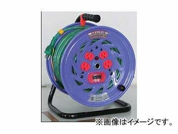日動工業/NICHIDO カラードラム 100V 30m ポッキンプラグ・過負荷漏電保護兼用ブレーカ付 スケルトン NFC-EK34-S JAN:4937305041246