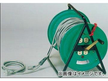 日動工業/NICHIDO 分岐リール(屋内型) 100V 電源用MKD50mタイプ アース無/先端防水プラグ付 MKD-50-10