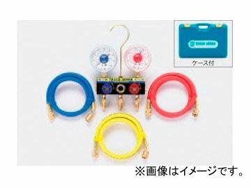タスコジャパン ボールバルブ式ゲージマニホールドキット TA120K-2