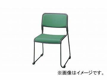 ナイキ/NAIKI 会議用チェアー ループ脚タイプ ライトグリーン E127-LGR 510×530×760mm