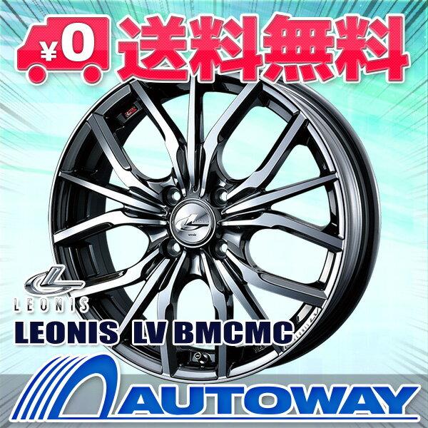 ■夏タイヤ14インチタイヤホイールセット■LEONIS LV BMCMC 14x4.5 +45 PCD100x4穴  ブラックメタルコートミラーカット 155/65R14《検索用》タイヤのAUTOWAY(オートウェイ)【RCP】