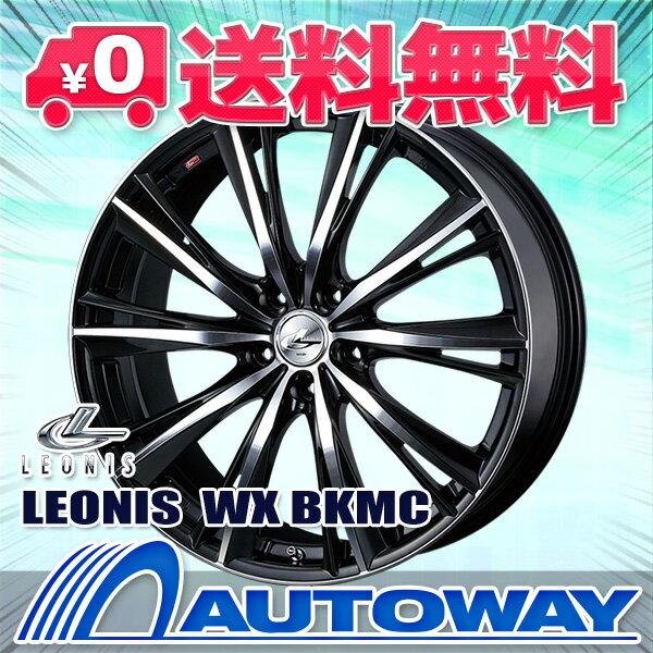 ■夏タイヤ18インチタイヤホイールセット■LEONIS WX BKMC 18x7 +53 PCD114.3x5穴  ブラックミラーカット 215/40R18《検索用》タイヤのAUTOWAY(オートウェイ)【RCP】