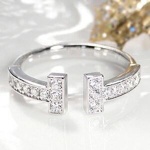 ☆Pt900【0.30ct】ダイヤモンド リング 指輪 リング プラチナ PT PT900 ダイヤ ダイア エタニティ 4月誕生石 ギフト プレゼント  0.3カラット  0.3 0.30  ピンキーリング Tワイヤー T Tモチーフ スマイル かわいい