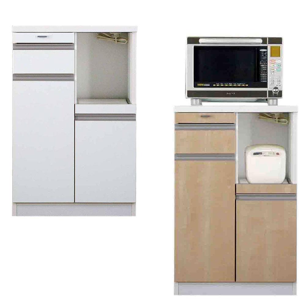 高橋木工所 スマートII キッチンボード 60Wカウンター 幅60.3×奥行51×高さ93cm ホワイト 家電ボード 食器棚
