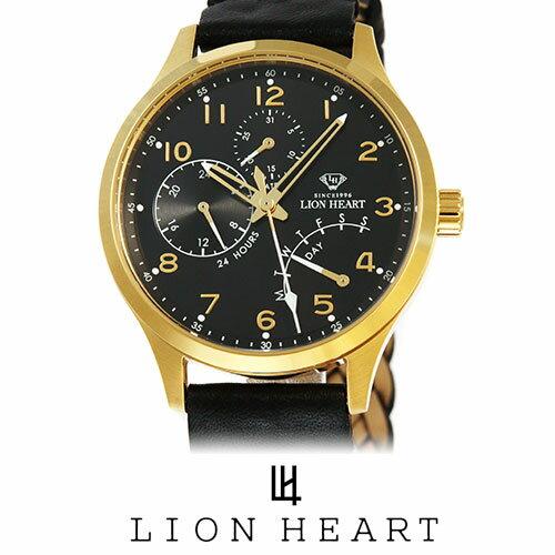 【20%OFFセール】 LIONHEART ライオンハート WATCH 腕時計 メンズ LHW105BKBK プレゼント ギフト