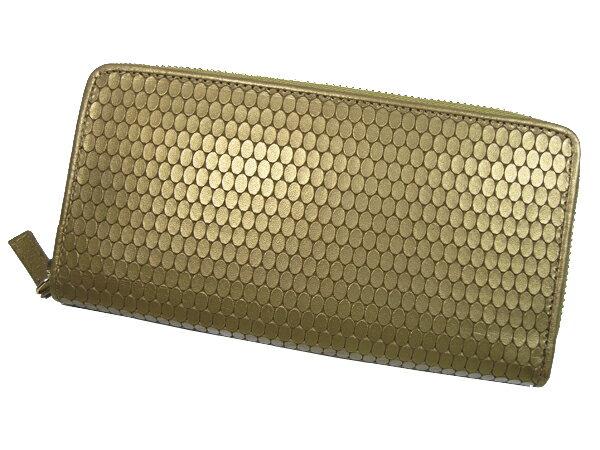 贅沢 【送料無料】長財布 MEGA屯型押しラウンド財布 103154 財布 サイフ 牛革使用 日本製