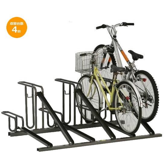 送料無料 代引き・同梱不可 【取り寄せ】 ダイケン 自転車ラック サイクルスタンド KS-D284 4台用