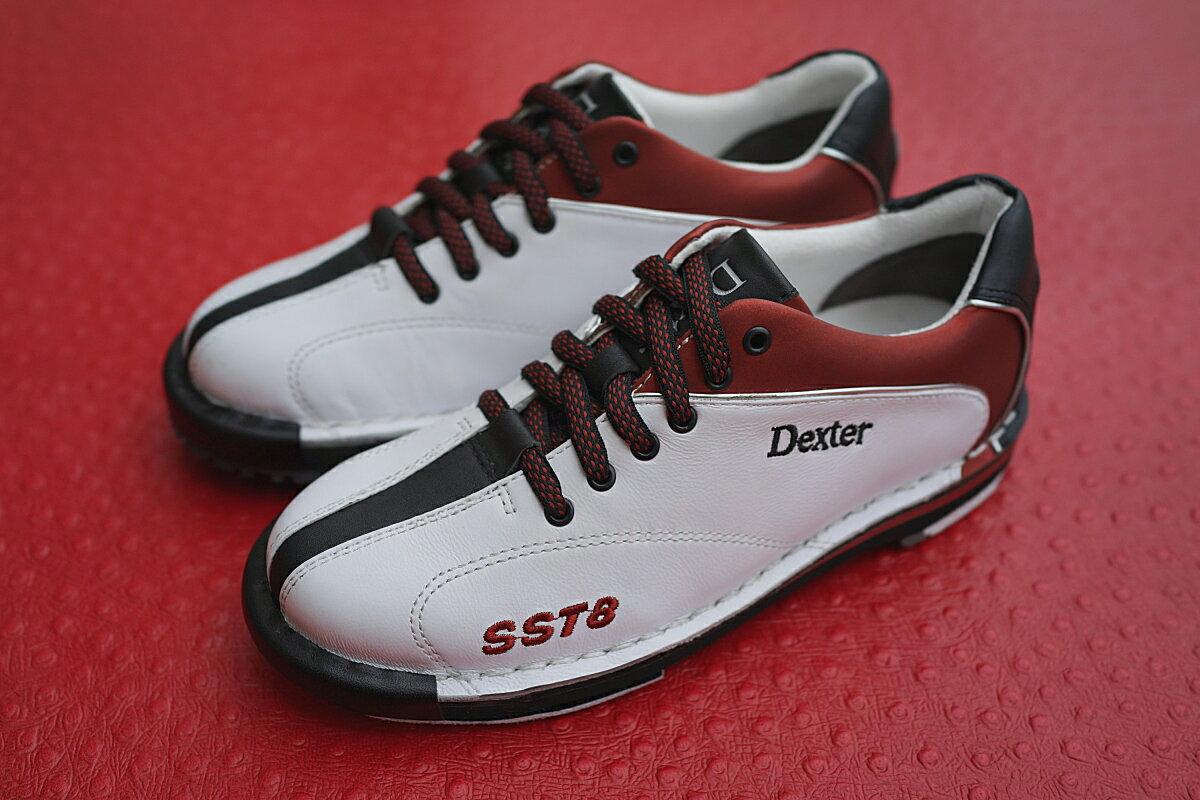 【Dexter】 SST8LE(2015年バージョン)【ホワイトレッド】 レディス ボウリングシューズ(左右兼用モデル) 【送料無料】