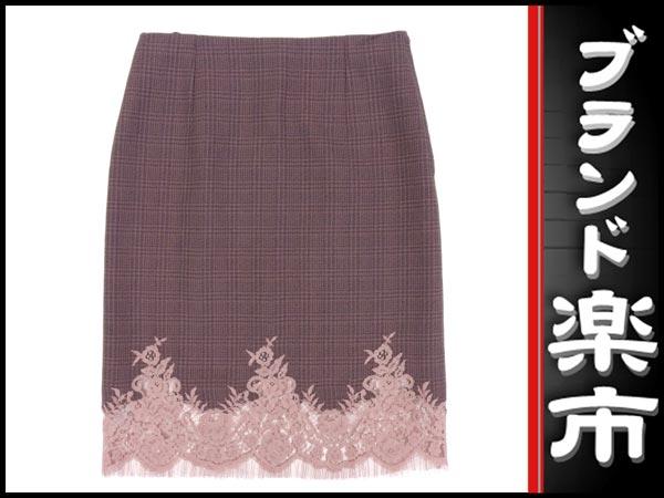 ☆楽市静岡店☆本物 ルイ ヴィトン LOUIS VUITTON 裾 レース スカート 40 【中古】【展示品】