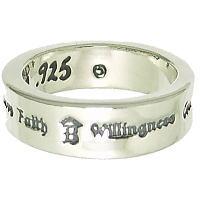 ラブバンド シルバーリング(指輪)*BWL(ビルウォールレザー)