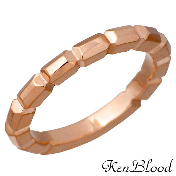 KEN BLOOD【ケンブラッド】 バゲット シルバー リング ピンク 指輪 9~25号 シルバーアクセサリー シルバー925 KR-259PK