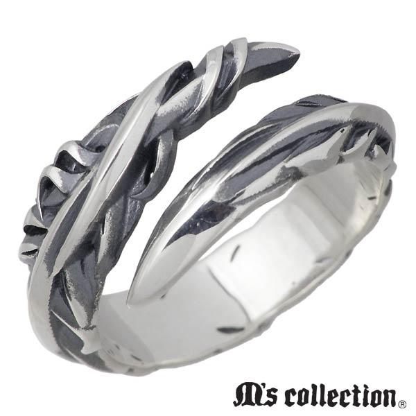 M's collection【エムズコレクション】 シルバー リング 指輪 メンズ フェザー スモール 15~22号 シルバーアクセサリー シルバー925 XR-003