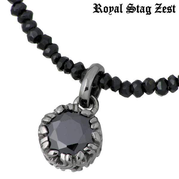 Royal Stag Zest【ロイヤルスタッグ】 シルバー ネックレス ブラックキュービック ブラックスピネル アラベスク シルバーアクセサリー シルバー925 SN25-017
