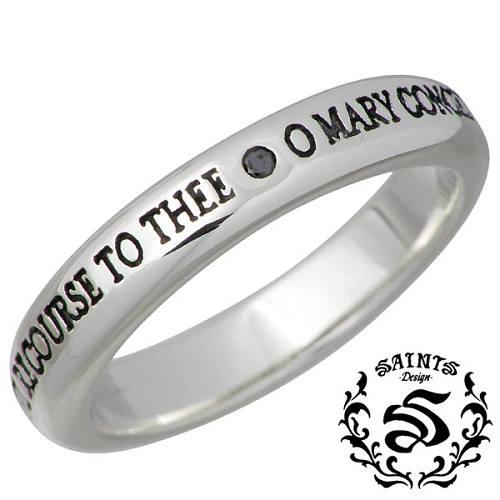 SAINTS【セインツ】 ブラックダイヤモンド マリア シルバー リング 指輪 15~21号 シルバーアクセサリー シルバー925 SSR11-109BD