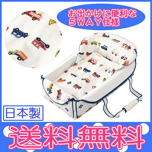 【フジキ】Bag de クーファン 4重ガーゼケット付 くるまパーク ホワイト/日本製/バッグdeクーファン/バッグでクーファン/クーハン/おでかけ/おむつ替え/お昼寝マット/プレイマット/ベビー