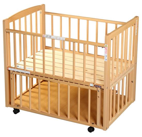 [澤田工業] L型プチベリー添い寝ミニベッド(ナチュラル)【国産ひのきのすのこ床板】【日本製】