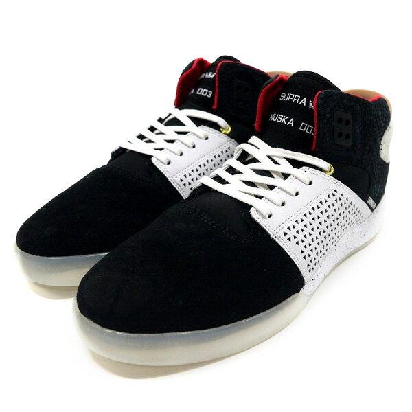 スープラ SUPRA スカイトップ3 スニーカー 靴 スケシュー 黒/白 ストリート スケート スケボー メンズ SKYTOP III -BLACK×WHITE-