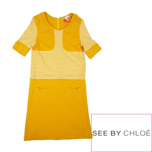 【SALE】【70%OFF】SEE BY CHLOE シーバイクロエ V371123A ワンピース 021. YELLOW